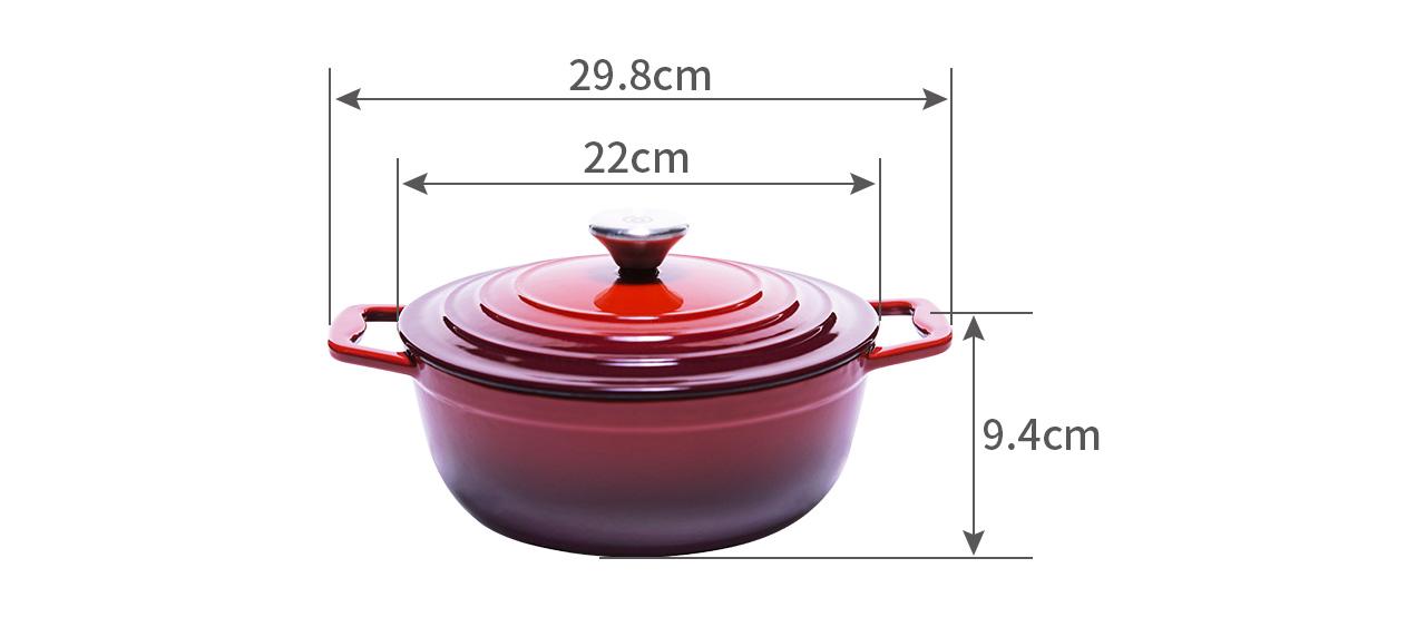 round casserole cr22c Dimension