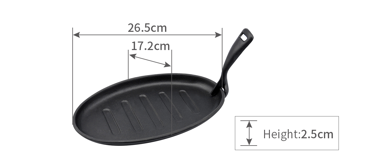 Enameled Cast Iron Grill Pan GO27A