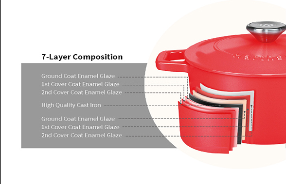 Enamel cast iron casserole