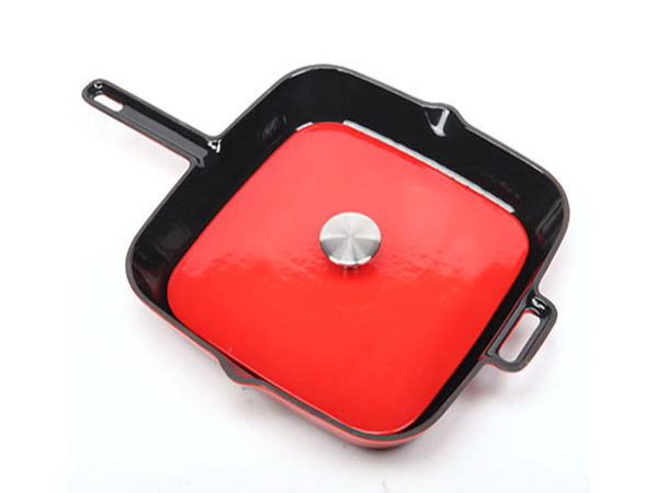 cast iron grill pan with grill press